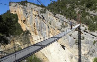 Pasarelas de Montfalcó: escaleras de vértigo