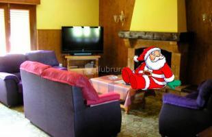 Casas rurales con chimenea para recibir a Papá Noel