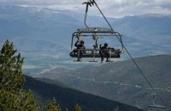 Estacion de Esqui La Molina en Alp (Girona)