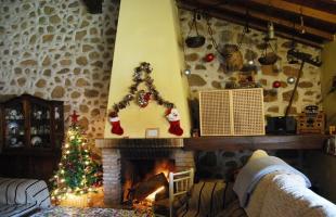 Así se decoran las casas rurales para Navidad