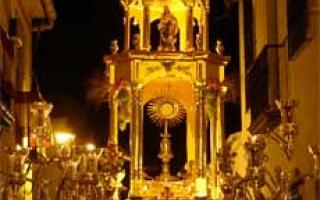 Salteras, el Corpus Christi en agosto