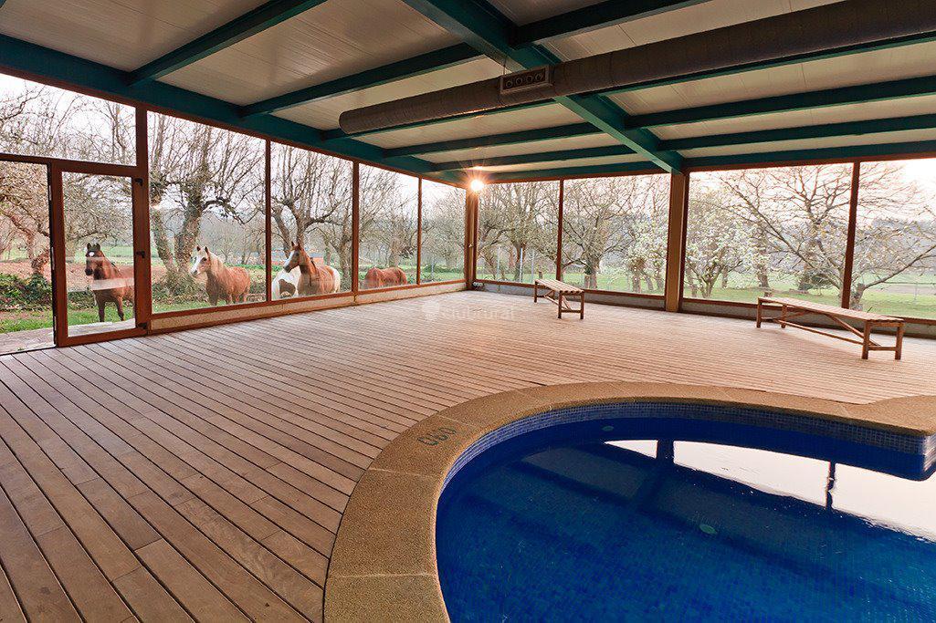 Fotos de casa cazoleiro lugo meira clubrural for Casa rural lugo piscina